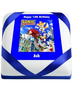Sonic the Hedgehog, Knuckles and Tails Birthday Cake