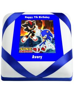 Sonic the Hedgehog and Shadow Birthday Cake (CND94)