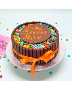 Chocolate Wafer with Rainbow Buttons Cake (FRZ C030)