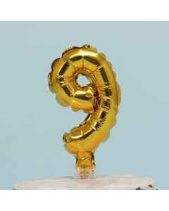 Gold Number 9 Shaped Balloon Cake Topper (BCT9)