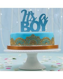 Laced Up Blue and Gold Cake (FRZ A2591)