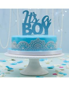 Laced Up Blue and White Cake (FRZ A2598)