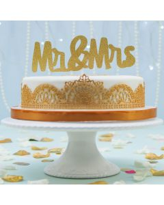 Laced Up White and Gold Cake ( FRZ A2664)